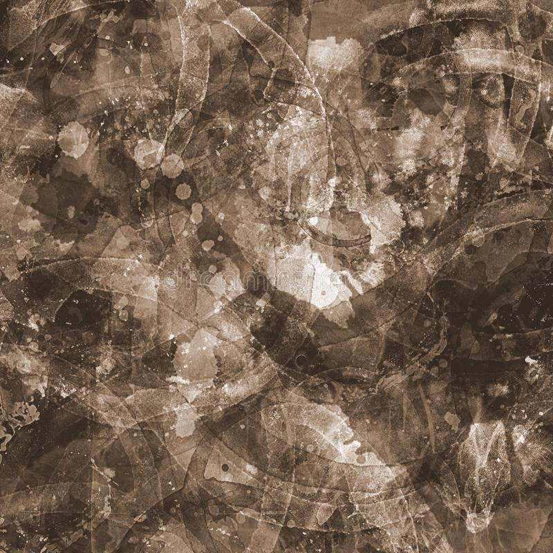 Brown splatter stained grunge worn texture old paper background royalty free stock photography