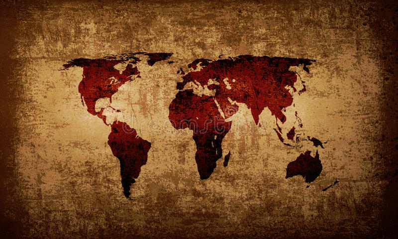 Brown grunge world map background stock illustration illustration download brown grunge world map background stock illustration illustration of recycled weathered 27555946 gumiabroncs Gallery
