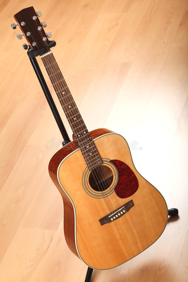 Download Brown Guitar On Neutral Background Stock Image - Image: 18906651