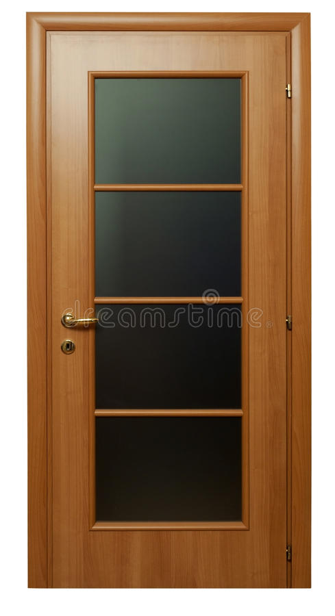 brown h lzerne t r mit glas stockbild bild von golden t ren 21435029. Black Bedroom Furniture Sets. Home Design Ideas