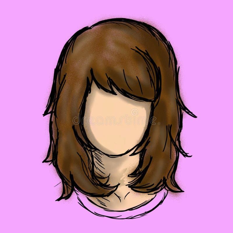 Brown-Haar-Charakter-Frauen lizenzfreies stockbild