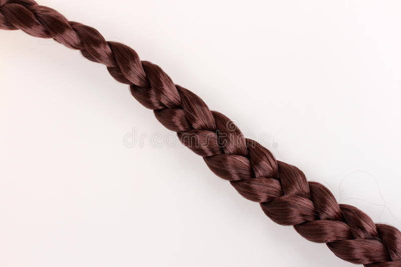 Brown-Haar-Zopf lizenzfreies stockbild