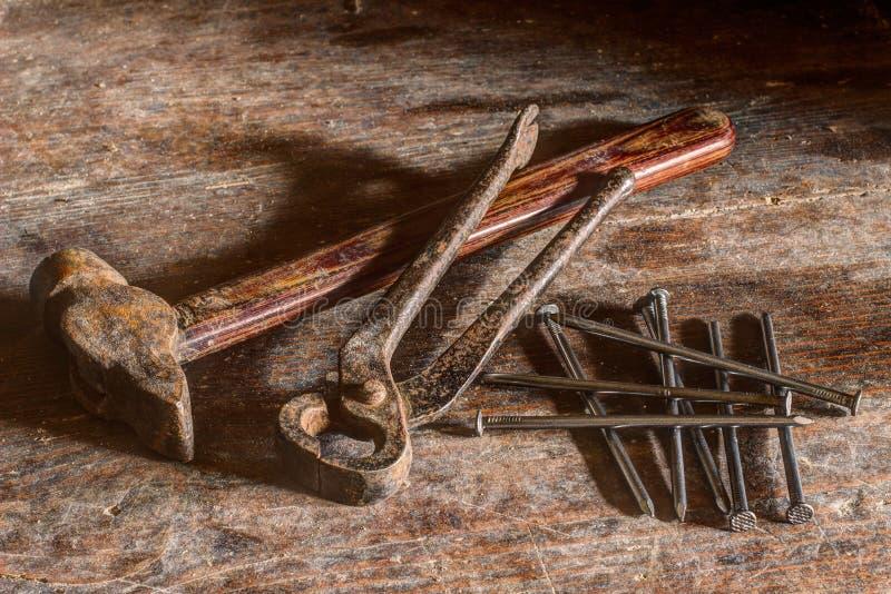 Brown Hammer Near Silver Nail Free Public Domain Cc0 Image