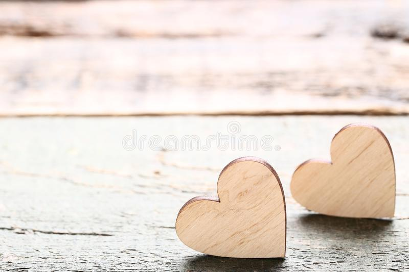 Brown hearts royalty free stock image