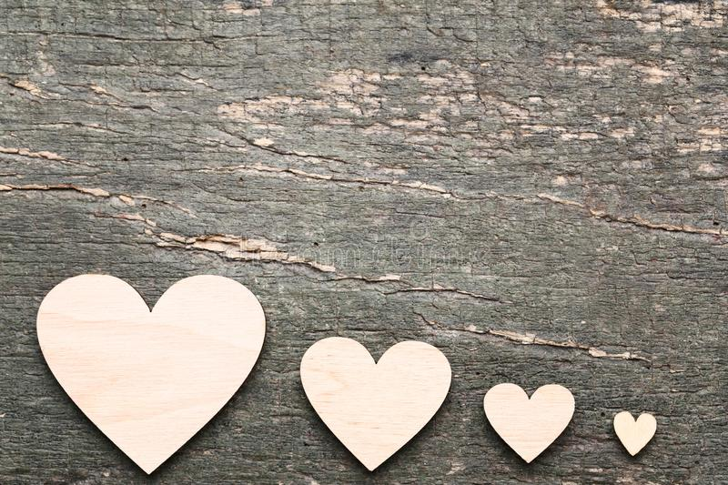 Brown hearts stock photography