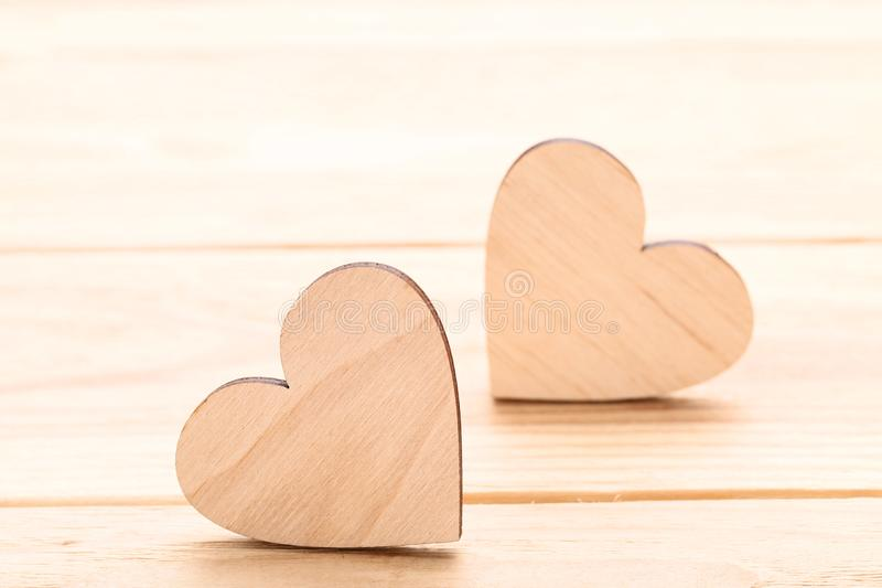 Brown hearts stock images