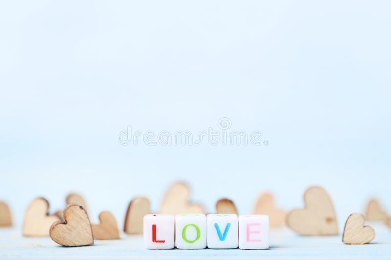 Hearts with word Love royalty free stock photos