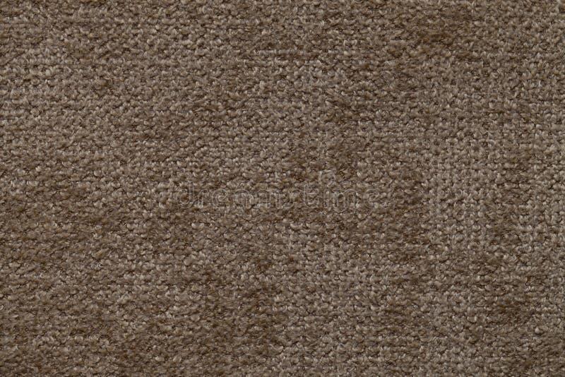 Brown-Hintergrund des weichen, wolligen Stoffes Beschaffenheit der Textilnahaufnahme stockbilder