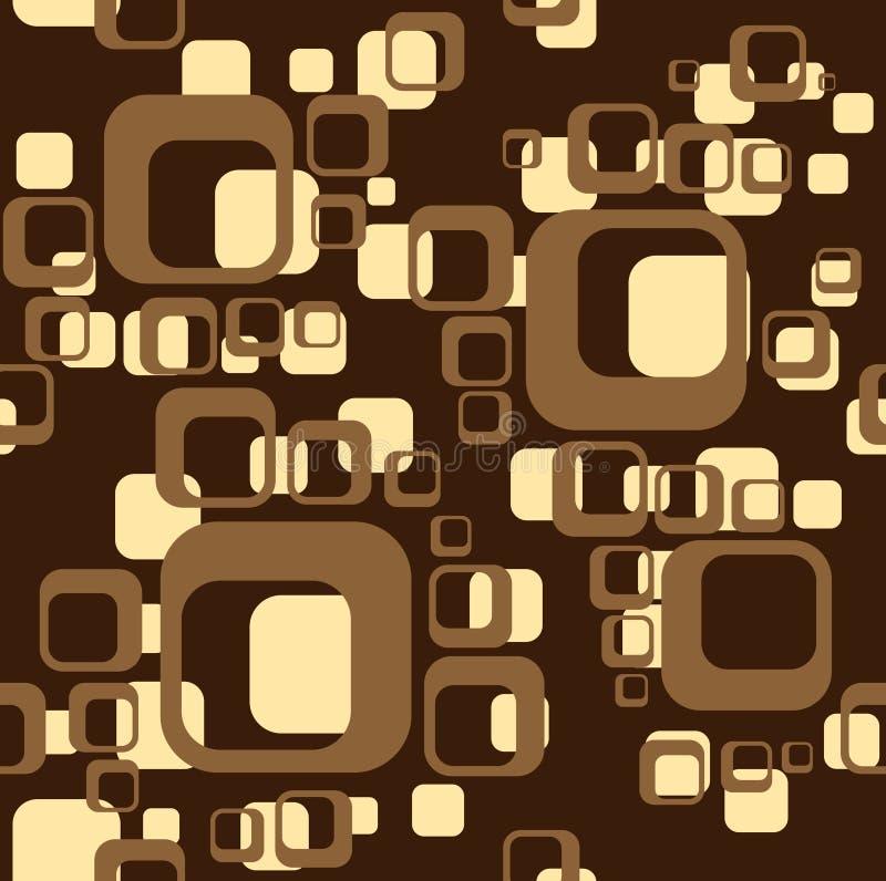 Brown-Hintergrund vom Quadrat stock abbildung