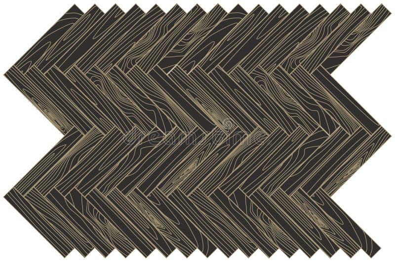 Brown-Holzparkett entziehen Sie Hintergrund vektor abbildung