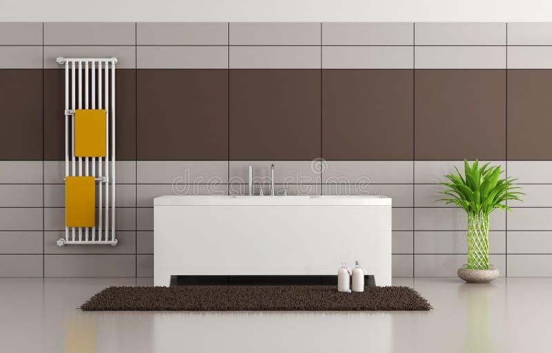 Brown i beżowa nowożytna łazienka royalty ilustracja