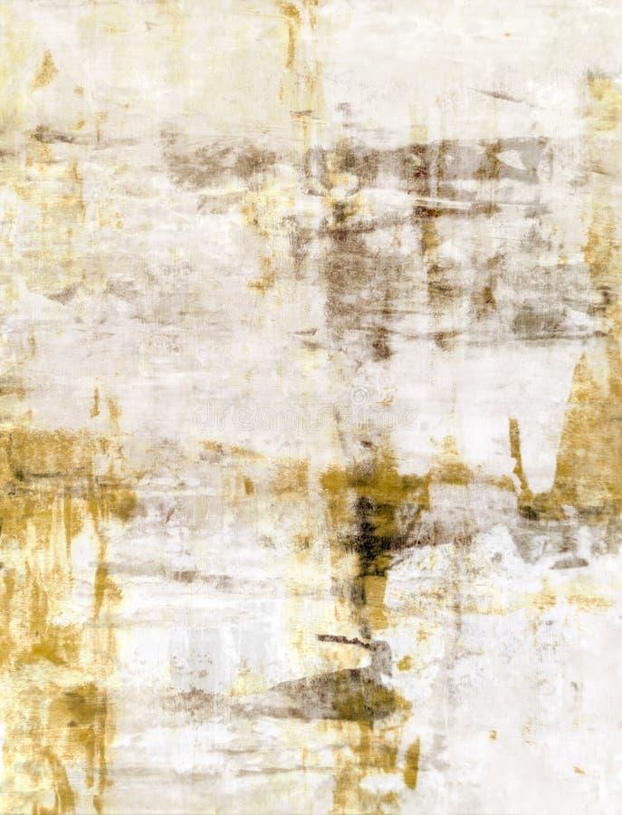 Brown i Beżowy Abstrakcjonistycznej sztuki obraz zdjęcia royalty free
