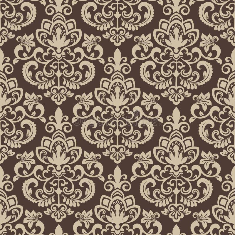 Brown i beżowy rocznik tapety wzór obraz royalty free