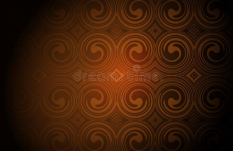 Brown i biała Abstrakcjonistyczna futrówka zrzucamy 3 d tła tapetę ilustracja wektor