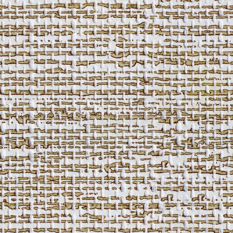 Brown i biały bezszwowy tapeta wzór obrazy stock
