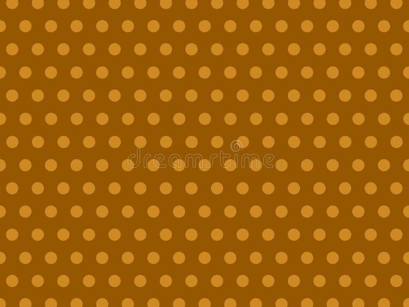 Brown inconsútil Dot Background Pattern en colores pastel amarillo stock de ilustración