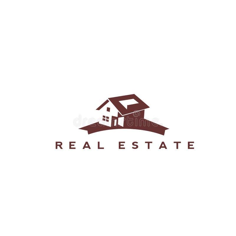 Brown inmobiliario con el fondo blanco ilustración del vector