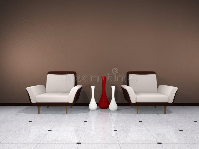 Brown interior vector illustration