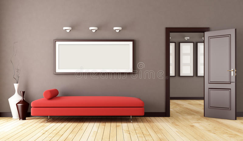 Brown interior royalty free stock photography