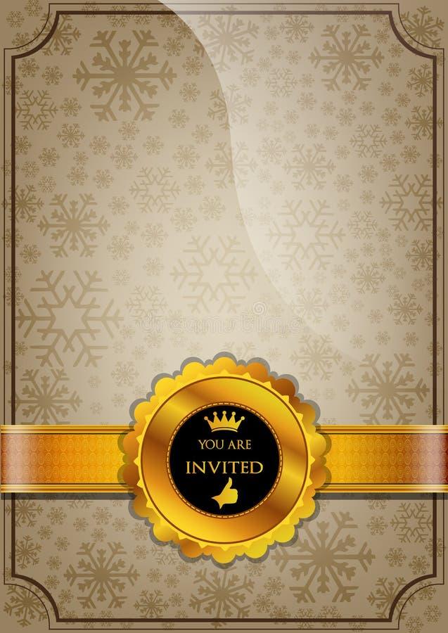 Brown Invitation Design stock illustration