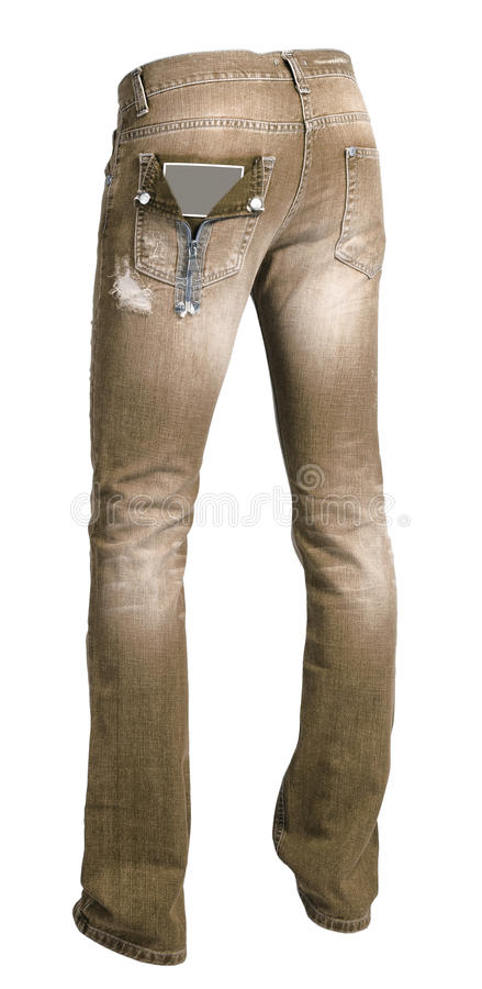 Brown-Jeans stockfotografie