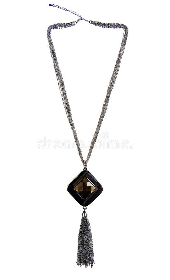 Brown Jewelled Necklace stock photography