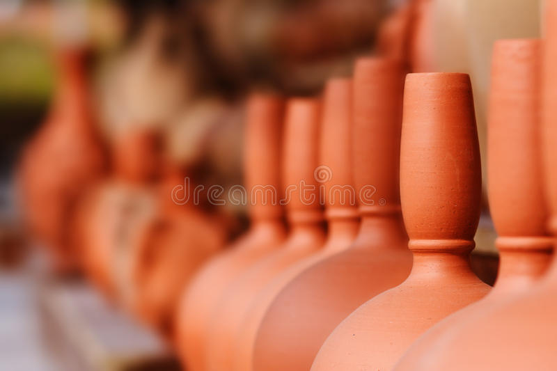 Brown Jugs Stock Photos