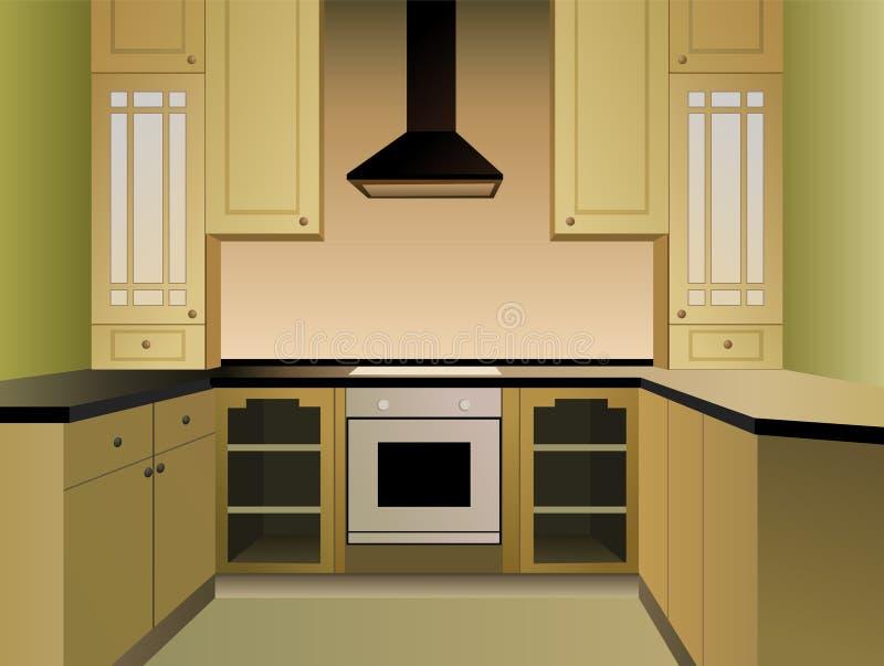 Brown-Küchevektor lizenzfreie abbildung