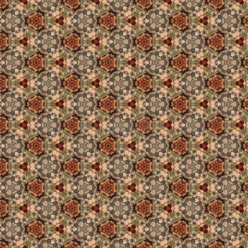Brown Kaleidoscope Paper Pattern royalty free stock photos
