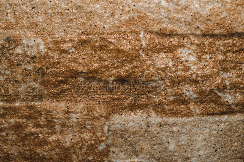 Brown kamie? z p?kni?ciami na powierzchni zdjęcia stock