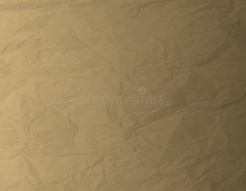 Brown knitterte Papierhintergrund-Vektor vektor abbildung
