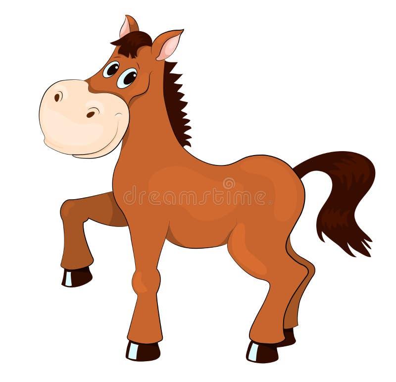 Brown koń ilustracja wektor