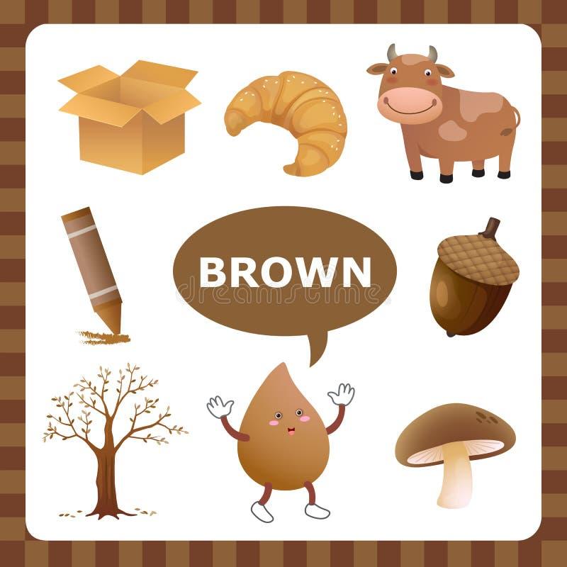 Brown kolor ilustracja wektor