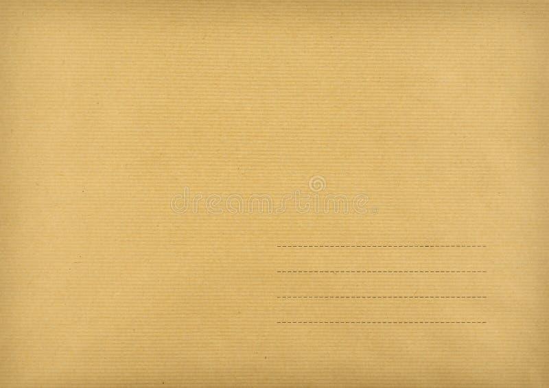 Brown kopertowy robić ââof paskujący papier zdjęcia stock
