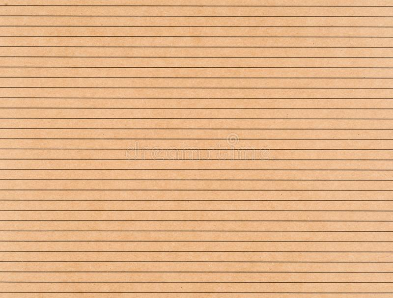 Brown-Kraftpapier mit schwarze horizontale Linien stockfotografie