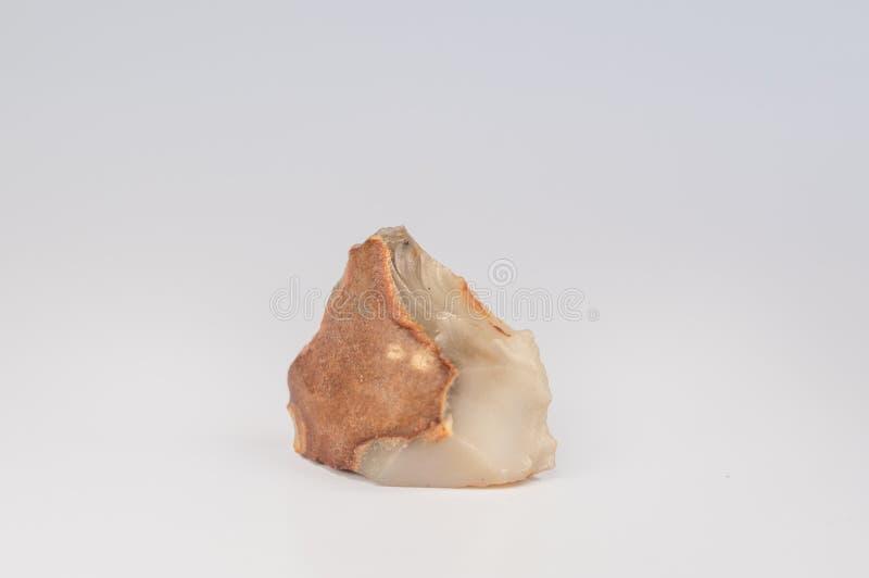 Brown krawędzi Czysty biały kamień fotografia stock