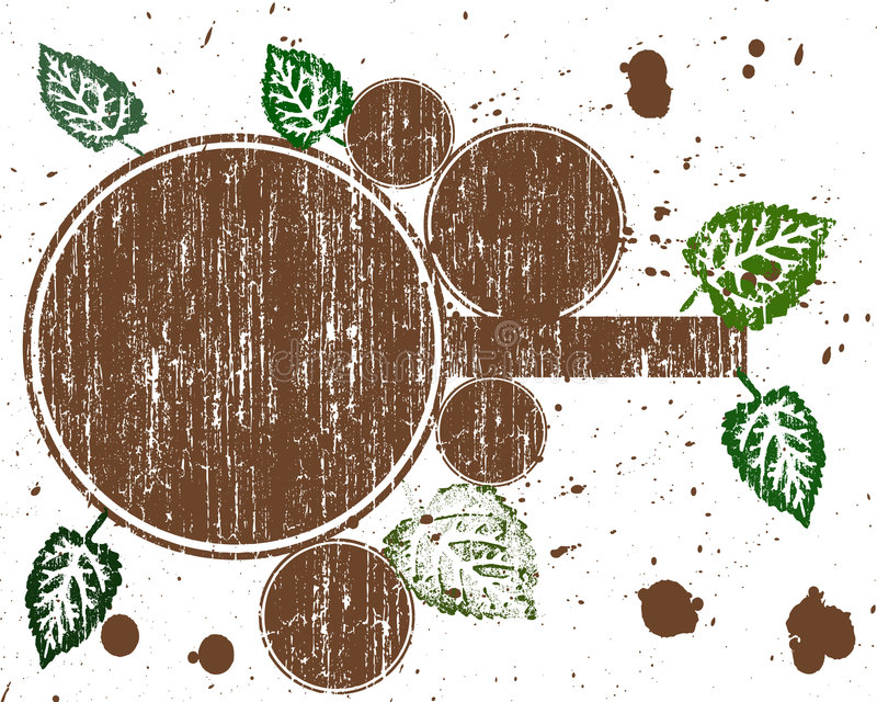 Brown-Kreis Grunge stock abbildung