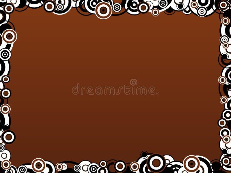 Brown-Kreis-Rand lizenzfreie abbildung