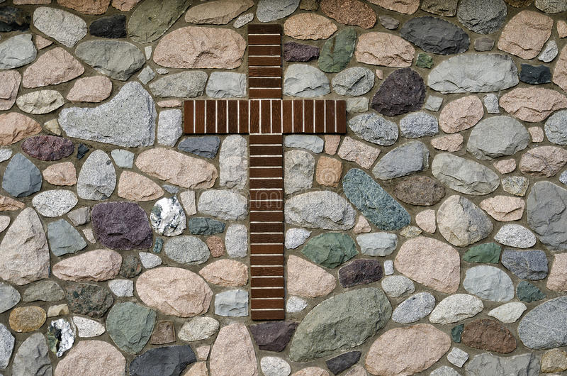 Brown krzyż obrazy royalty free