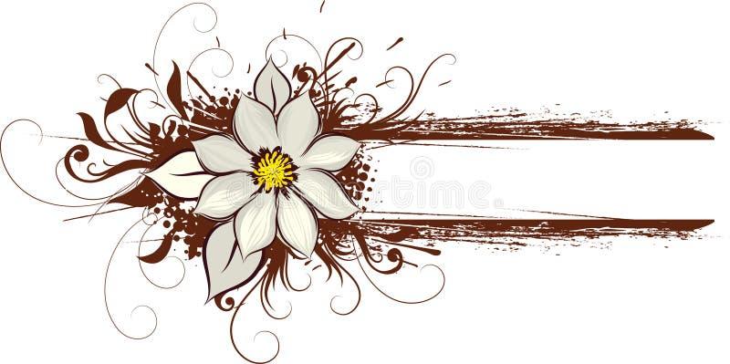 brown kwiecisty sztuki royalty ilustracja