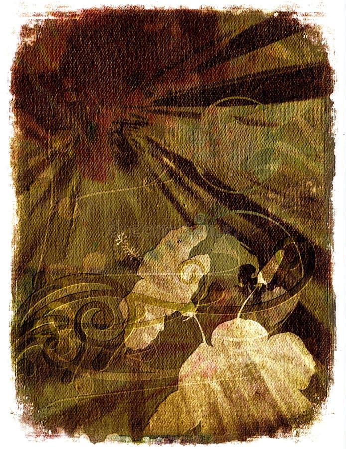 brown kwiecisty tła ilustracja wektor