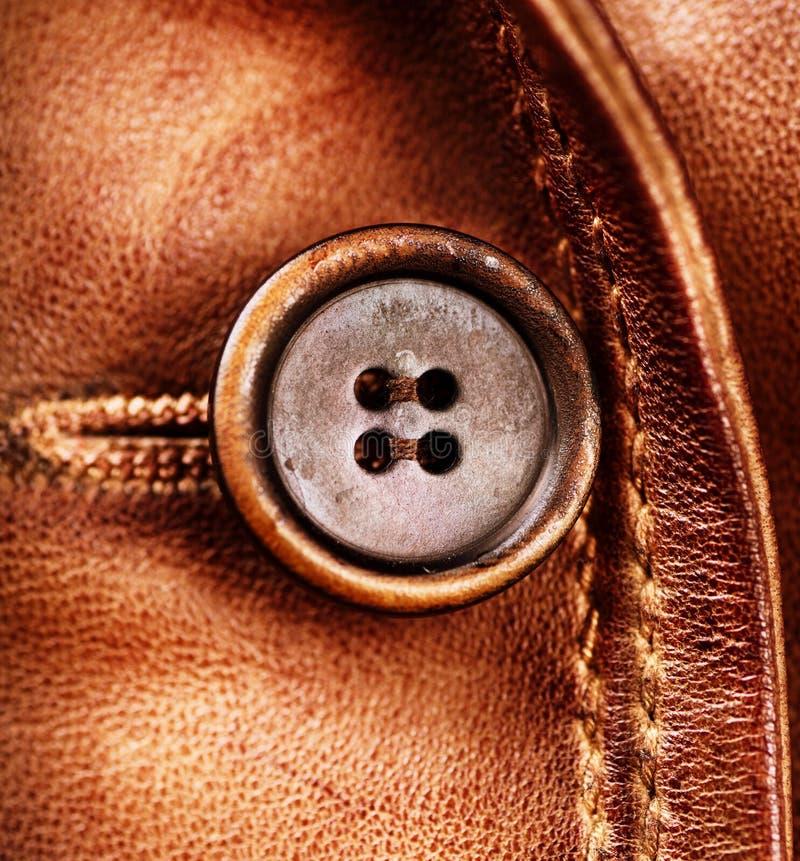 Brown lädertextur arkivbilder