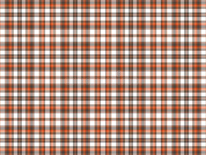Brown, laranja, e manta branca ilustração stock
