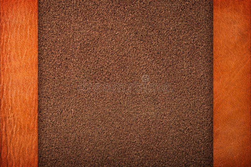 Brown Leather. Textures for background, composition with margins royalty free stock photography