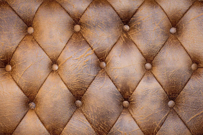 Brown leather. Close up of brown leather stock image