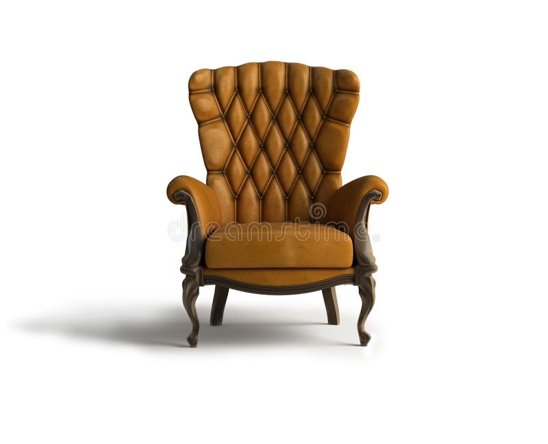 Download Brown Leather  armchair stock illustration. Image of lounge - 1415788
