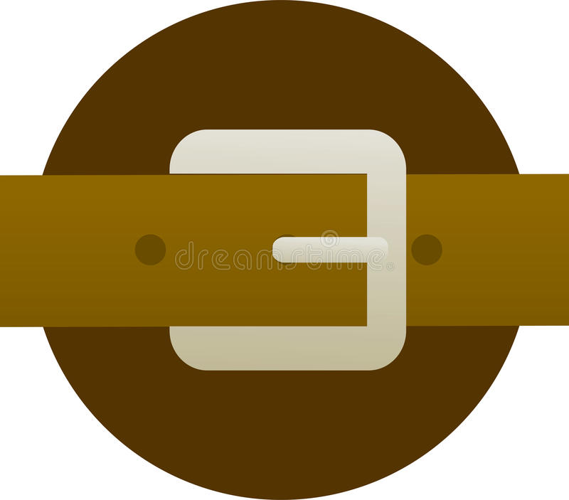 Download Brown Leather Belt And Buckle Illustration Stock Illustration - Illustration: 12647096