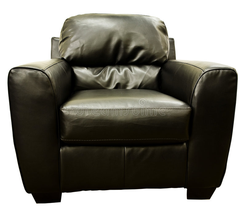 Download Brown Leather Living Room Chair Stock Image - Image: 7667941