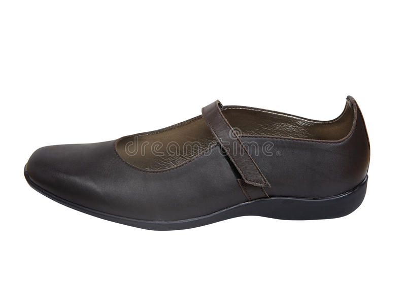 Download Brown leather shoe stock photo. Image of flat, pump, italian - 21045828