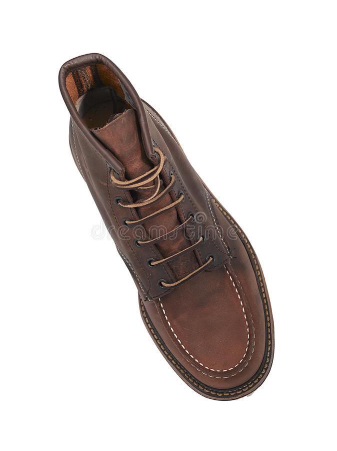 Brown Leather Shoe From Above Stock Photos